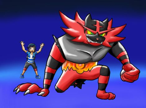 incineroar z move by danteshinobi