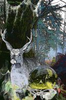 White stag by rustymermaid