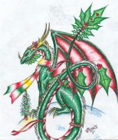 Christmas Dragon 2004 by Talonclawfange