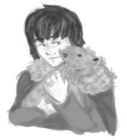 GOT: Bran and Summer by Alivewhenever