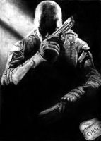 Black ops 2 Pencil Drawing by Keshavsart