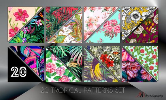 20 Tropical Patterns set by noema-13