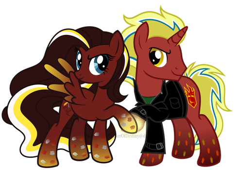 Rainbow Power Firebrand and InkRose by SeekerOfDestiny