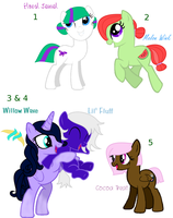 Mlp adoptables and auction! by Katwyn-Lauryl