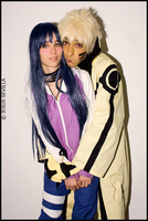Naruto(Bijuu Mode) and Hinata (L) NaruHina by Naruto-Cosplay-Cadiz