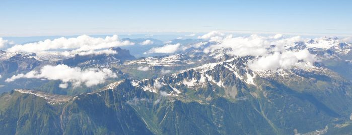 Panorama from Mount Blanc by saguara