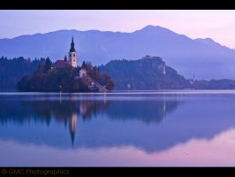 Lake Bled at Dawn II by GMCPhotographics