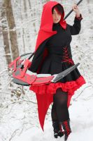 RWBY- Ruby cosplay by Reesesnnpieces