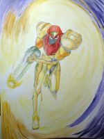 Samus Aran- Water Color by kaienjen