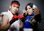 Chun Li and Ryu Cosplay by Alluring-Angel