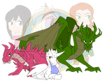 ChibiCONDITIONED Dragons by Dragon-FangX