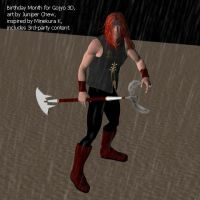 S Gojyo 3D in drizzle by ibr-remote