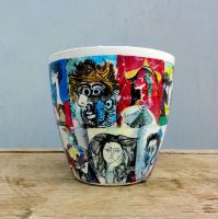 Flower pots Pablo Picasso by naraosart