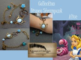 Alice Disney steampunk bracelet by Rouages-et-Creations