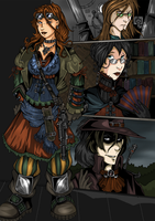 Steampunk Characters by ZoeStead