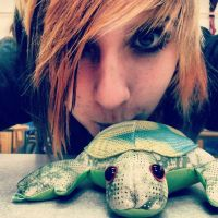 Me and Le turtle. by Wierd-Girl-10