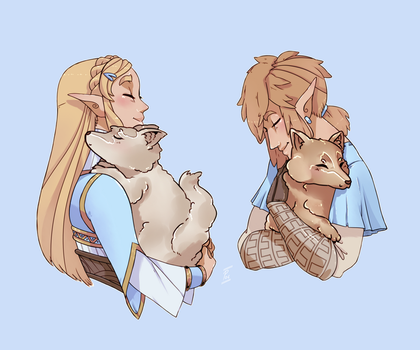Breath of the Wild and DOGS! by thepoecatcher
