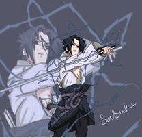 sasuke uchiha colored lineart by cutenarutogirl