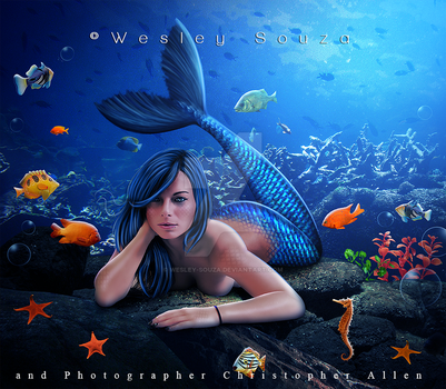 Mermaid -commission by Wesley-Souza