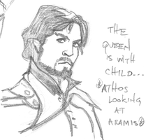 Athos, the Queen is with child by LyLyL