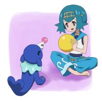 Lana and Popplio by KohTojoh