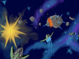 Asteroid Splitting by Vypor