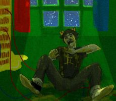 Sollux at the window by chyamx2