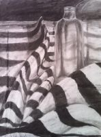 Charcoal Still Life by Shiloh-Tovah