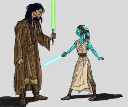 Quinlan and Aayla by vagwen-reg