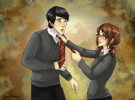 Neville x Mathilda commission by Dralamy