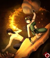 Toph Vs Zuko Reloaded by CrimsonPumpkin