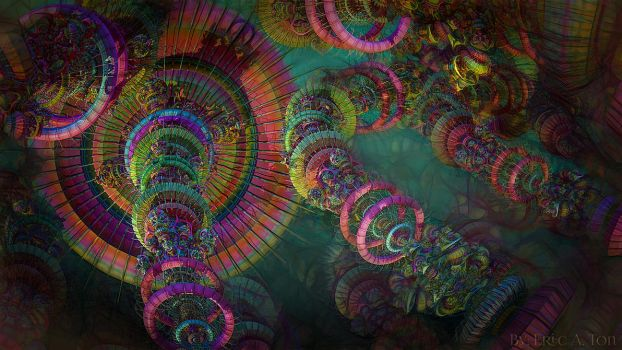 Psychedelic Canopy by EricTonArts