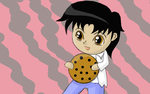 Chibi with the Giant Chocolate Chip Cookie by Miss-Merlina