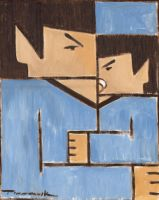 Spock baby Spock cubism painting by TOMMERVIK