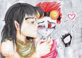 Sweet kiss for you - JxC by Phantom--Wolf