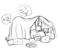 adorable derps and a fort by crowburd