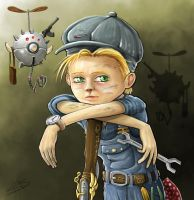 Steampunk Mechanic by MakingPicsSlowly
