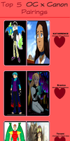 Top 5 OC x Canon Pairing part 1 by Dragonprince18