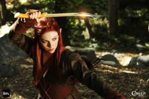Tauriel Sword Fight by CORSIGLIA