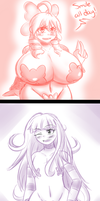 Doodles: Himari and Lily Combo by TheEnglishGent
