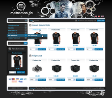 metroman web shop by outlines