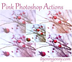 Free Pink Photoshop Actions by ibjennyjenny