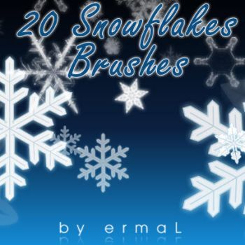Snowflake Brushes by by-ermal