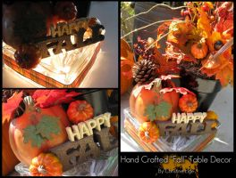 "Lighted ""Fall"" Table Decor by Christine-Eige"
