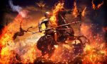 Black Knight and Army Fire by alanleal22
