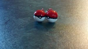Pokeball Earrings! by Nalusa