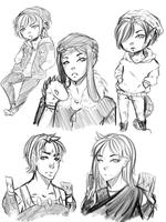 Comm Sketches 2 by Bitchnii