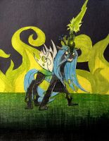 Queen Chrysalis Papercraft by DietZombieBait