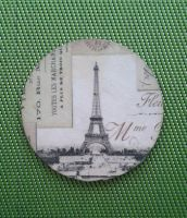 Cup pad with Eiffla Tower - Decoupage technique by SteamJo