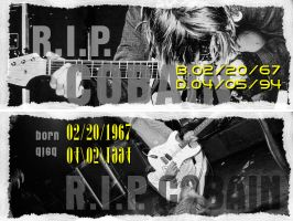 RIP K. Cobain Banners by el-chalupa